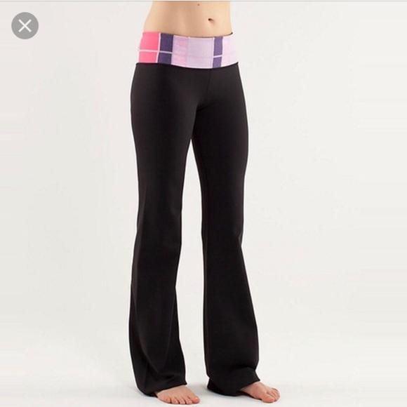 9204b329ac6 lululemon athletica Pants | Lululemon Groove Flare Yoga Pant Size 6 ...